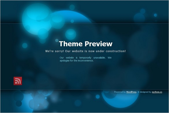 My blue construction is a free Coming Soon WordPress Theme