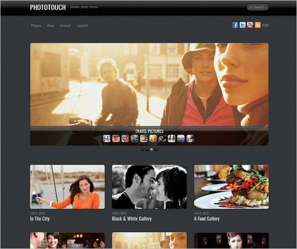PhotoTouch is a WordPress Theme by Themify.me