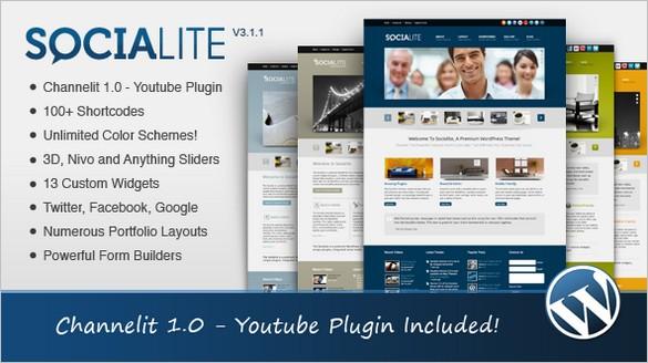 Socialite - Modern WordPress Theme
