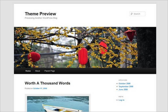 Twenty Eleven Free WordPress Theme