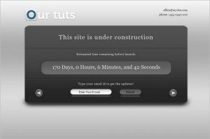 Under Construction is a free WordPress Theme