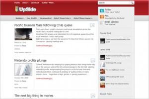 UpSide is a free WordPress Theme