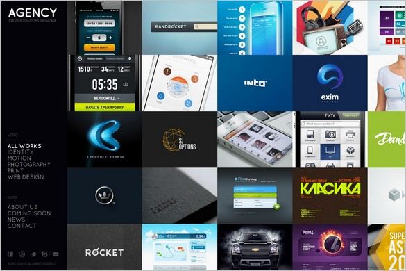 Agency is a Fullscreen Portfolio WordPress Theme