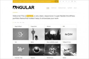 Angular is a Responsive Portfolio WordPress Theme