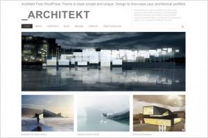 Architekt is a free WordPress Theme by Dessign.net