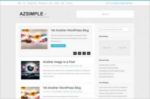 AzSimple is a free WordPress Theme (GPL)
