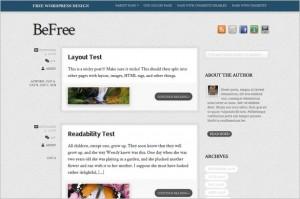BeFree is a free WordPress Theme by Theme4Press
