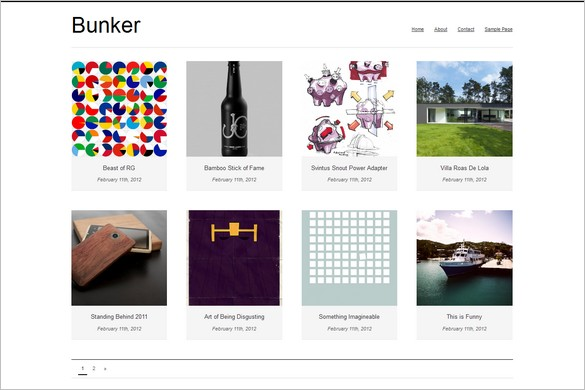 Bunker is a free GPL WordPress Theme