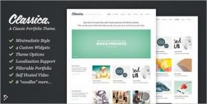 Classica: Minimalistic WordPress Portfolio Theme