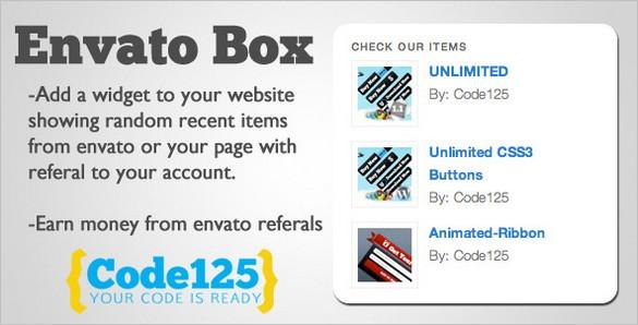 Envato Box - WordPress Widget