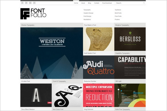 Fontfolio is a free wordpress theme by dessign fontfolio wordpress theme free maxwellsz