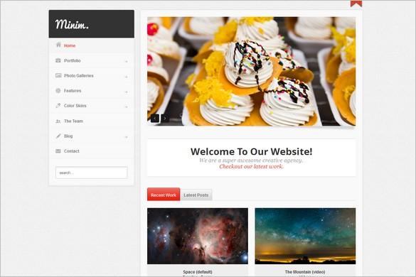 Minim is a Portfolio WordPress Theme
