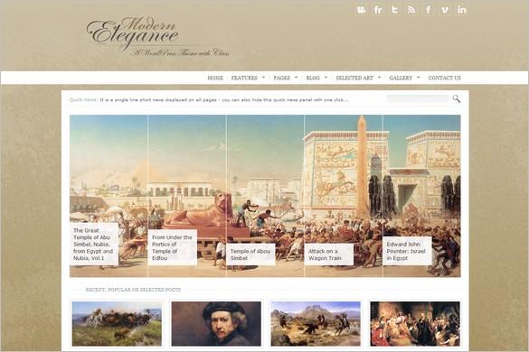 Modern Elegance is stylish and classic WordPress Theme