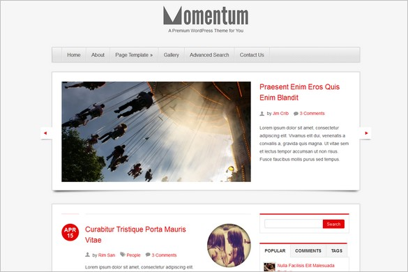 Momentum is a WordPress Theme by ColorLabs