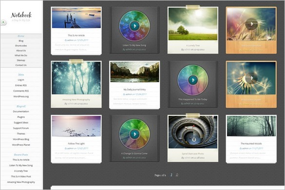 Notebook WordPress Theme by Elegant Themes