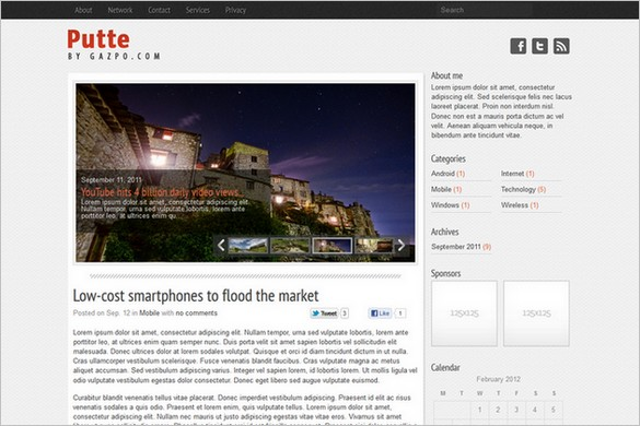 Putte is a free WordPress Theme by Gazpo.com