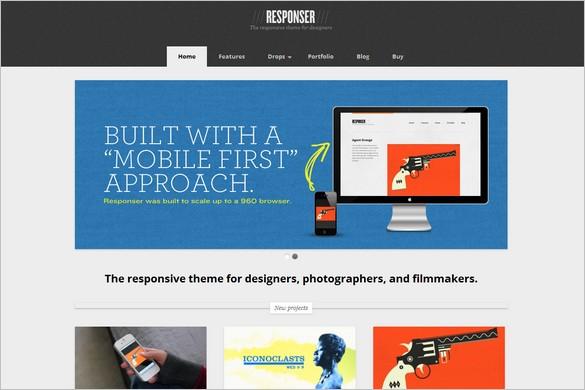 Responser - A responsive portfolio WP theme
