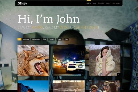 Shutter is a Portfolio WordPress Theme