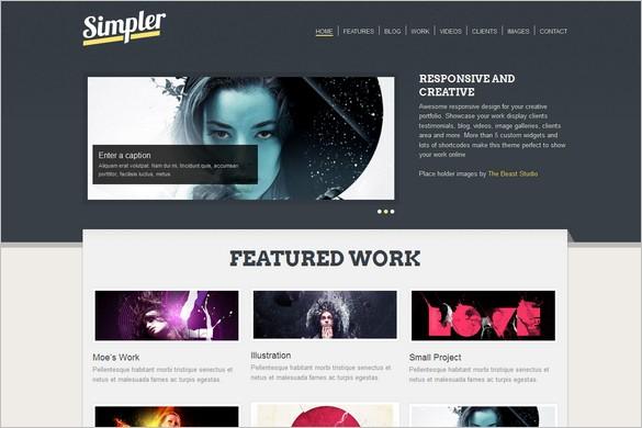 Simpler Portfolioa WordPress Theme