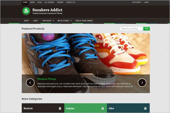 SneakersAddict  is a E-commerce theme by Colorlabs