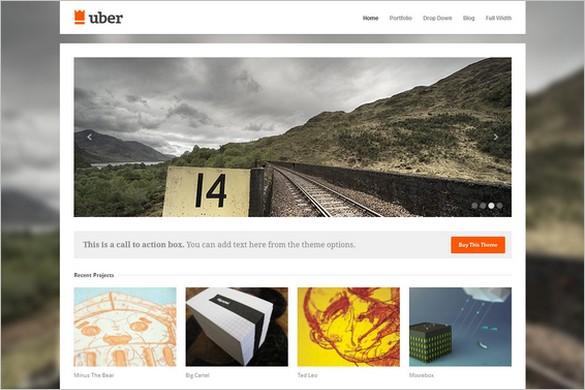 Uber is a  Portfolio WordPress Theme by Theme Trust