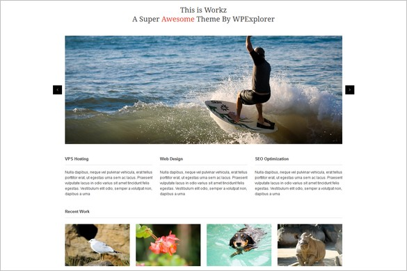Workz is a free WordPress Theme by WPExplorer