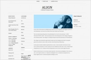 Align is a free WordPress Theme by 90Four