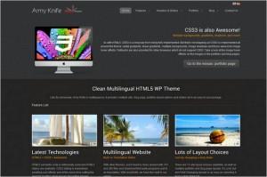 ArmyKnife Multilingual HTML5 WP Theme