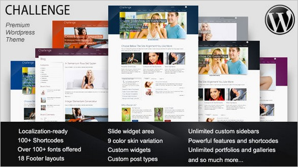 Challenge – Powerful Premium WordPress Theme