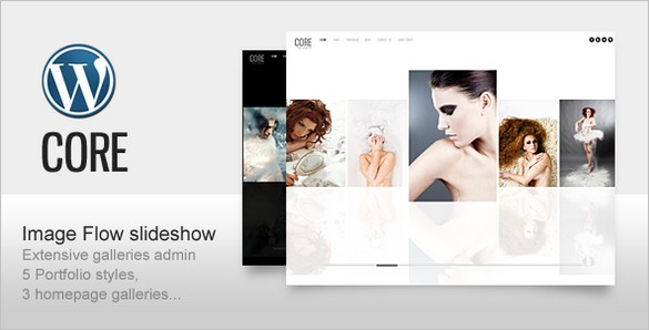 Core is a Minimalist Photography Portfolio WordPress Theme