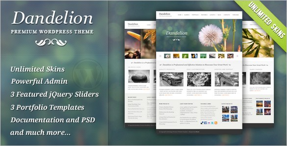 Dandelion - A Powerful Elegant WordPress Theme