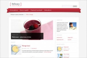 Delicacy is a free Culinary WordPress Theme