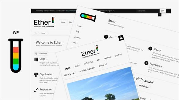 Ether Portfolio WordPress Theme