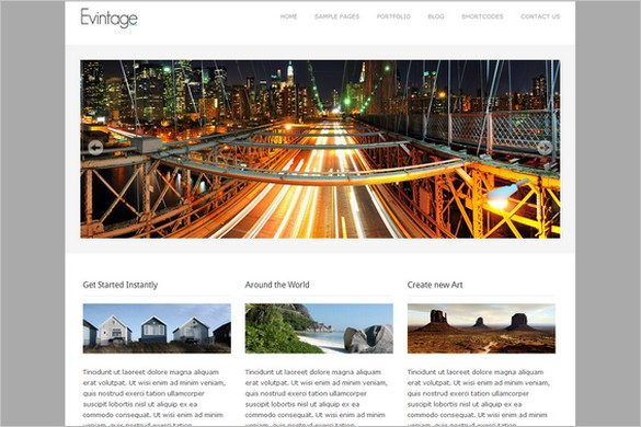 Evintage is a Free WordPress Theme by WPMeta