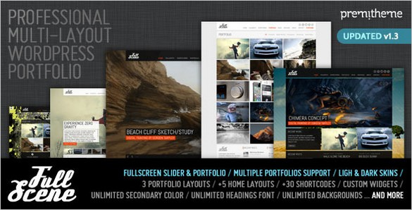 FullScene Portfolio and Photography WordPress Theme