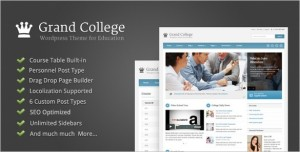 Grand College is a WordPress Theme For Education