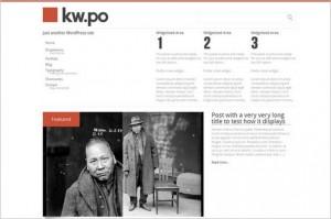 Kw.po is a free WordPress Theme by Frédéric Serva