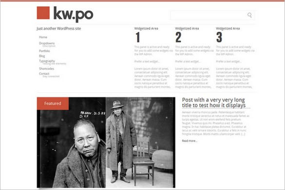 Kw.po is a free WordPress Theme by Frédéric Serva
