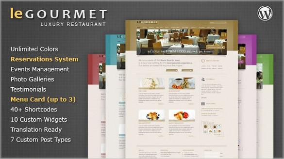 LeGourmet Premium Restaurant WordPress Theme