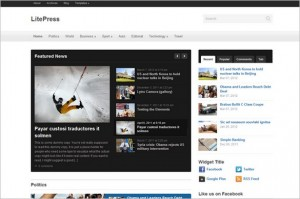 LitePress is a WordPress Theme by WPZOOM