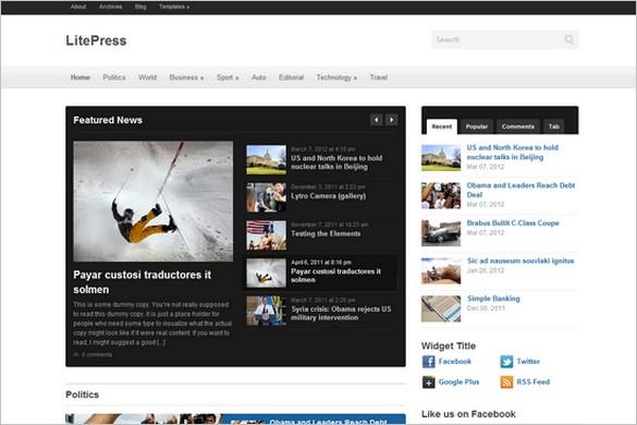 LitePress is a WordPress Theme by WPZOOM