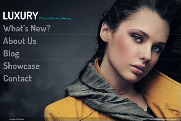 Luxury is a Stylish Accordion WordPress Theme