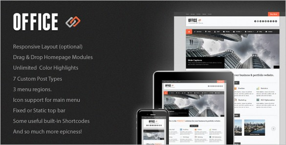 Office is a Responsive Business WordPress Theme