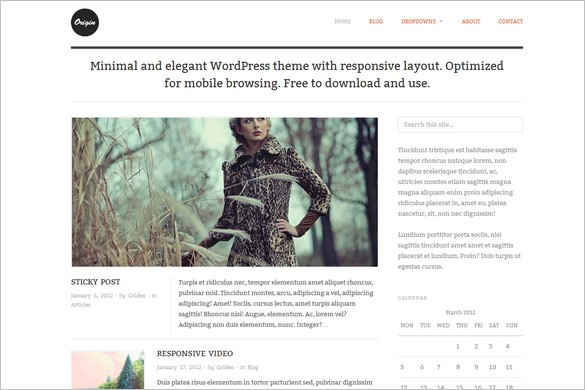 Origin is a free responsive WordPress Theme