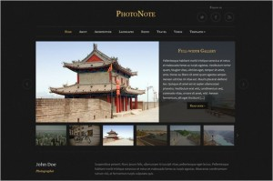PhotoNote is a Photo & Video WordPress Theme