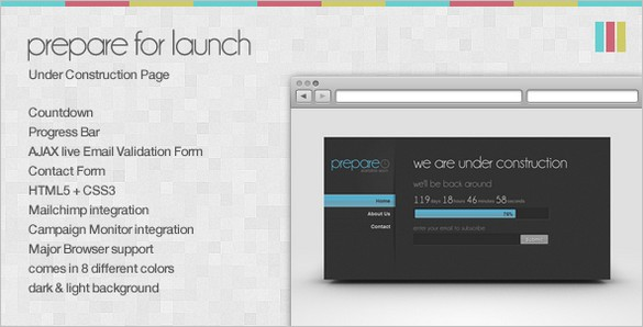 Prepare for Launch is an Under Construction Page