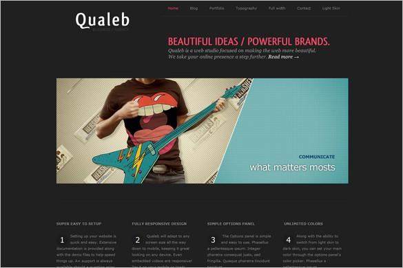 Qualeb Responsive Premium WordPress Theme