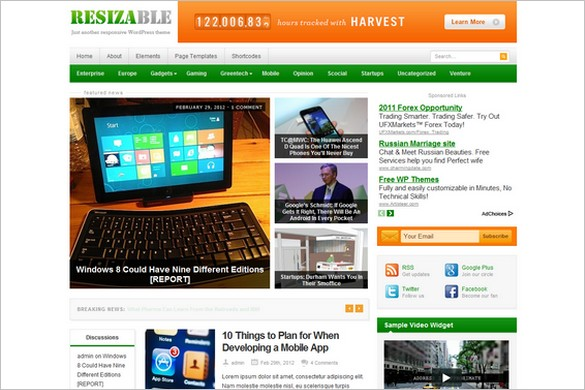 Resizable is a Responsive WordPress Theme by Theme Junkie