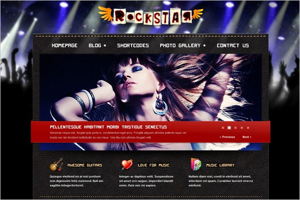 Rockstar is a WordPRess Theme for Music Bands