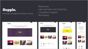 Supple Minimalist WordPress Portfolio Theme